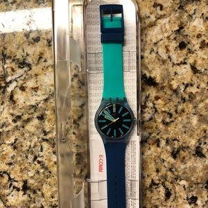 Swatch Accessories - Rare Blue Men's Swatch Watch